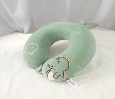 Recalled Ximi Vogue children's green dinosaur neck pillow