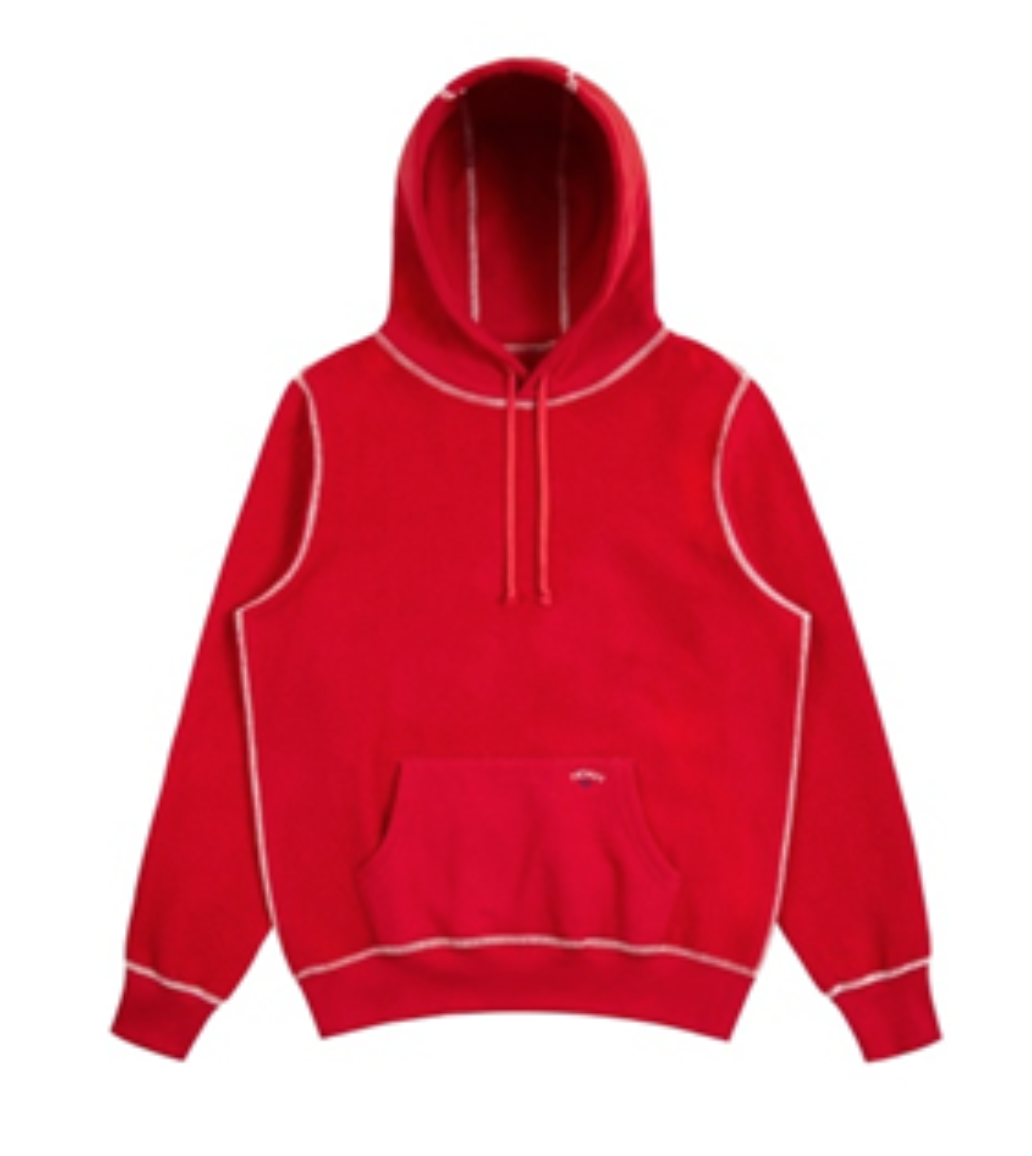 Recalled Noah Reverse Fleece Hoodies in Bright Red