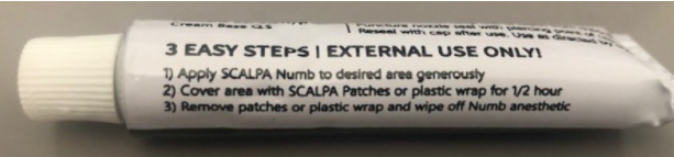 Recalled Scalpa Numb Maximum Strength Topical Anesthestic Cream – Side View
