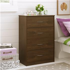 Ameriwood Mainstays chest of drawers in walnut - 5412214PCOM
