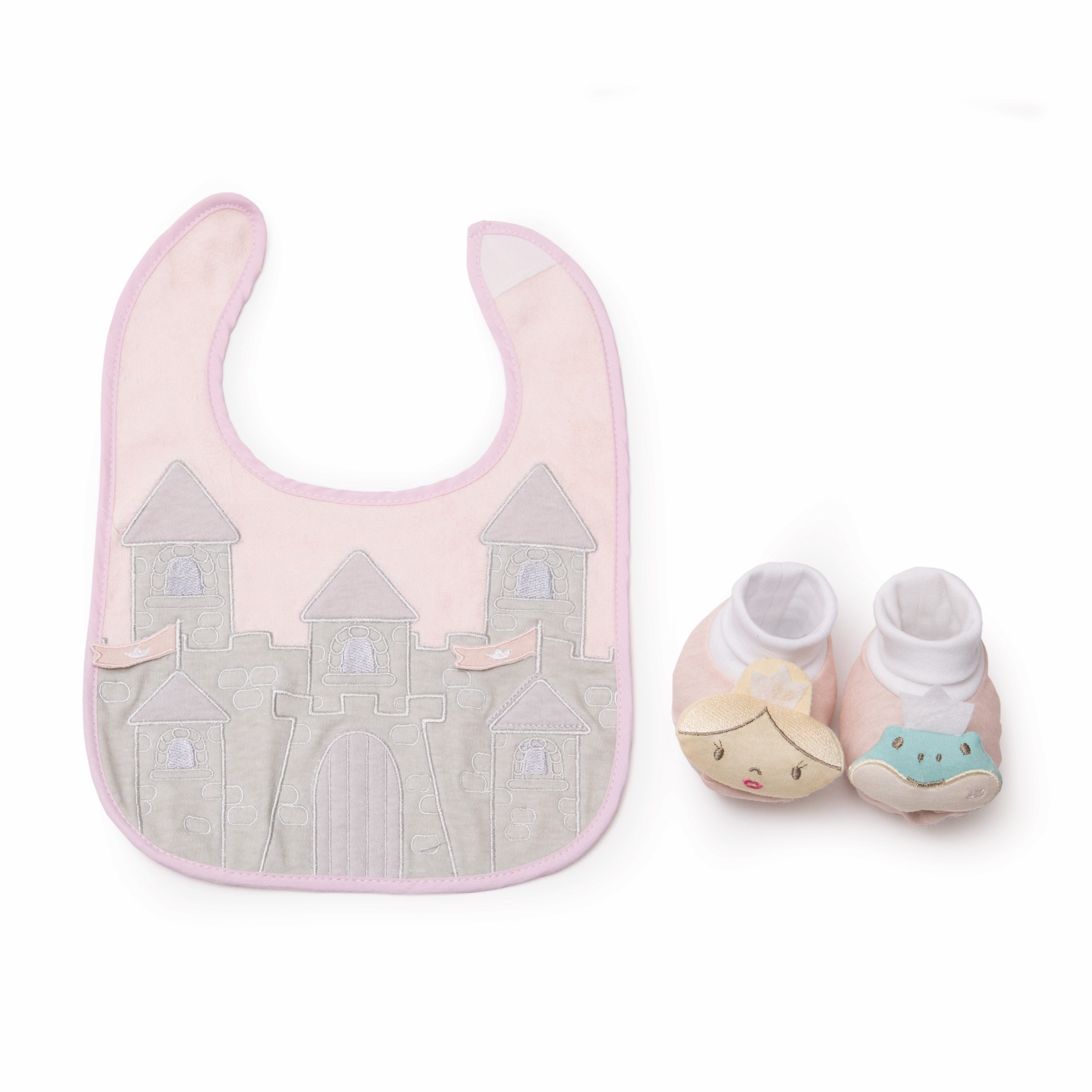 Princess bib and bootie set