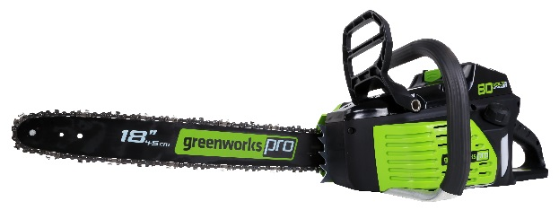 Greenworks Pro 80-volt 18-inch cordless electric chainsaw