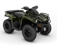 Recalled MY21 Can-Am Outlander XT 570 Boreal Green also sold in Iron Gray-Octane Blue