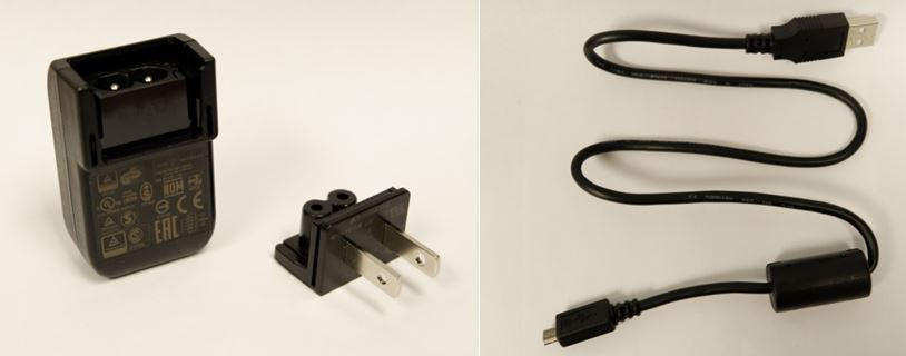 image of Power adapter wall plugs sold with Fujifilm digital cameras