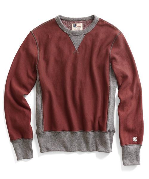 Recalled men's Todd Snyder + Champion sweatshirt in Crimson