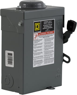 Recalled Schneider Electric General Duty Square D safety switch