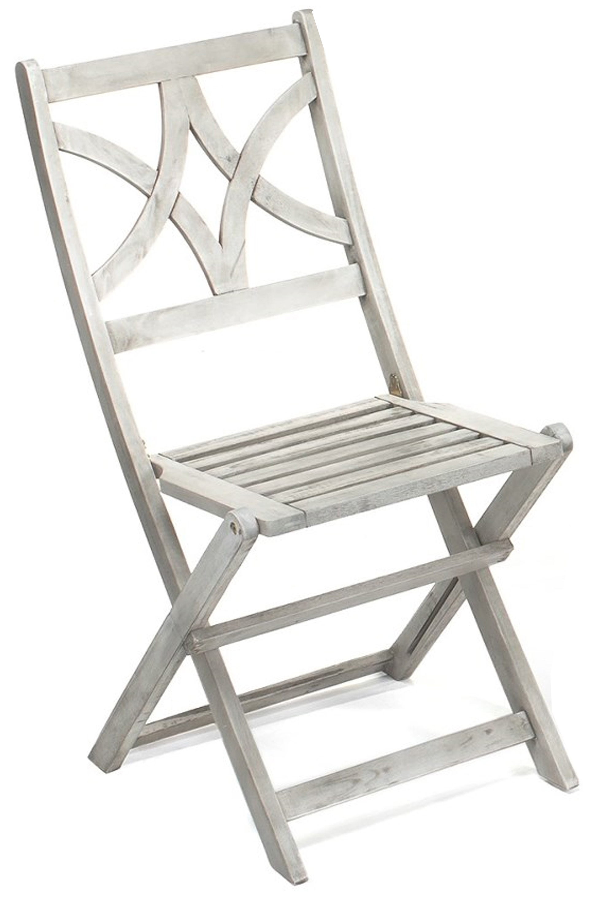 Jimco Outdoor Folding Bistro Chairs in graywash finishes