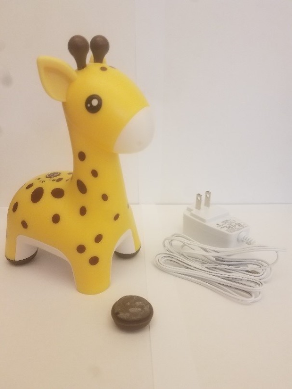 The recalled HoMedics Giraffe Comfort Creatures Nightlight with detached foot.