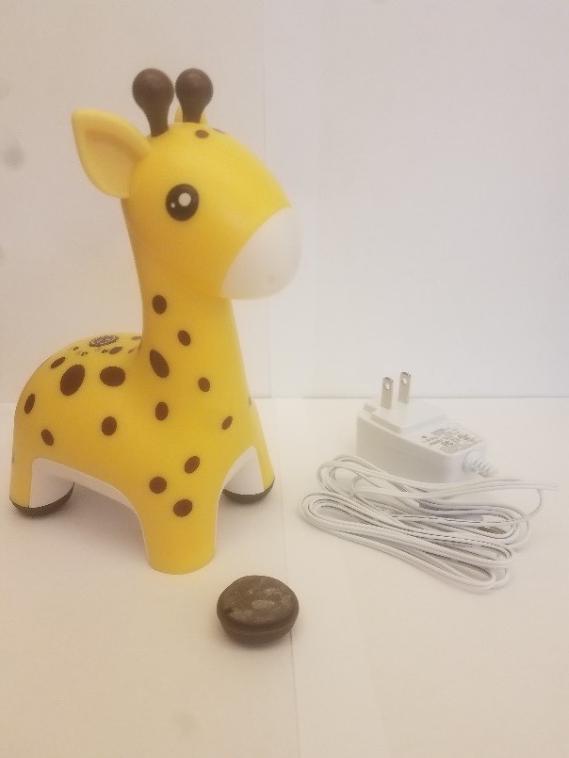 The recalled HoMedics Giraffe Comfort Creatures Nightlight with detached foot.