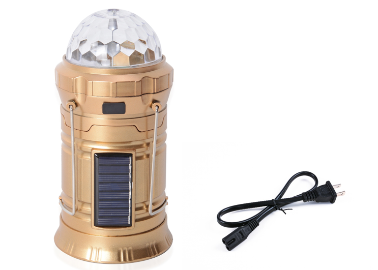 image of Rechargeable Party Disco LED Light with Solar Panel