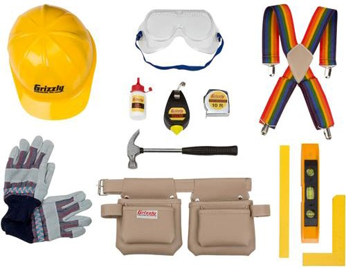 Contents of Recalled Grizzly Children's Tool Kit (Model# H3044)