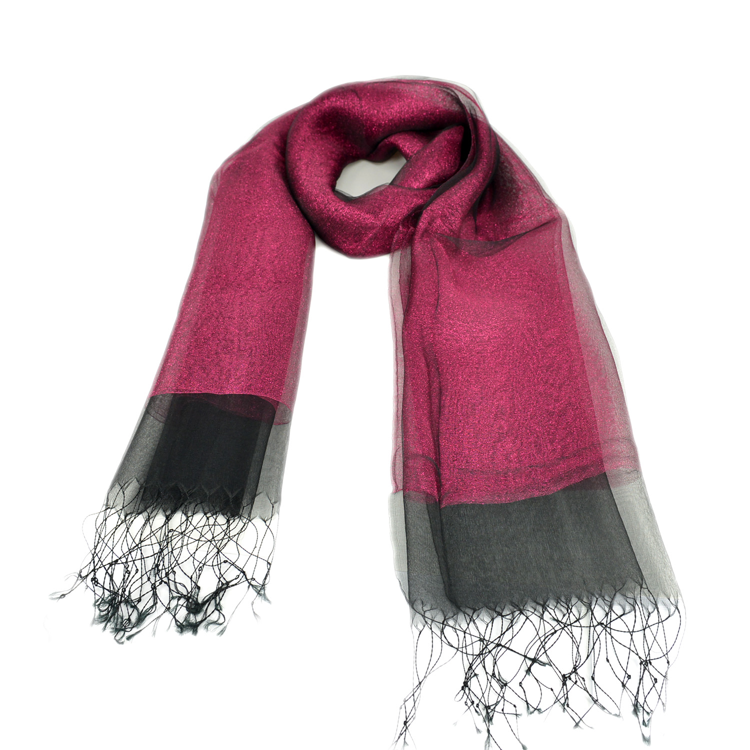 DG women's scarf – wine red