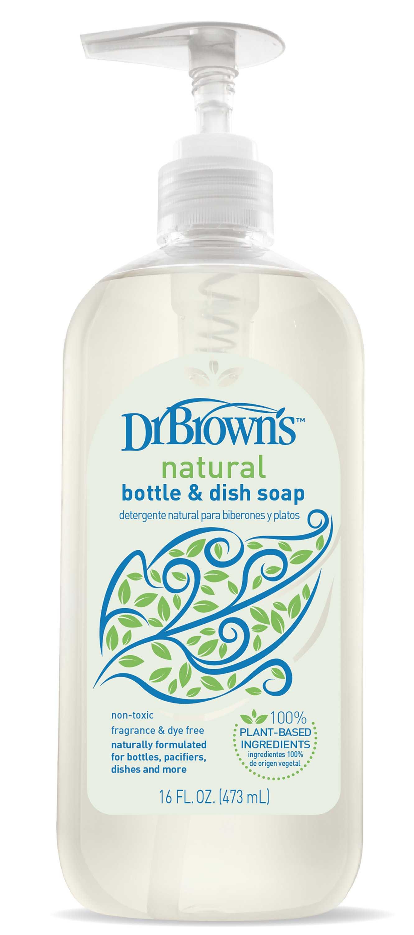 Handi-Craft Dr. Brown's natural bottle & dish soap, 16-ounce