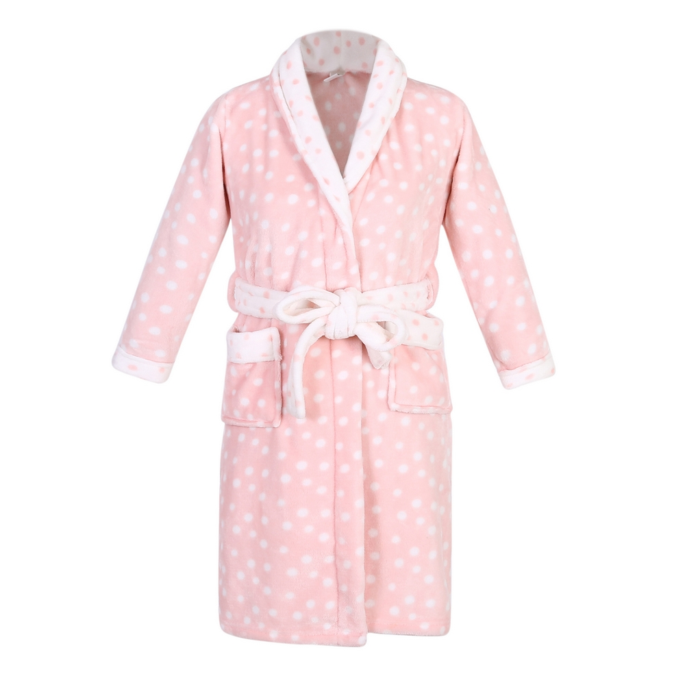 Recalled Richie House children's robe in pink and white with polka dots
