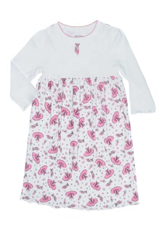 Klever Kids Long-Sleeved Nightgown (Allover Ballerina)