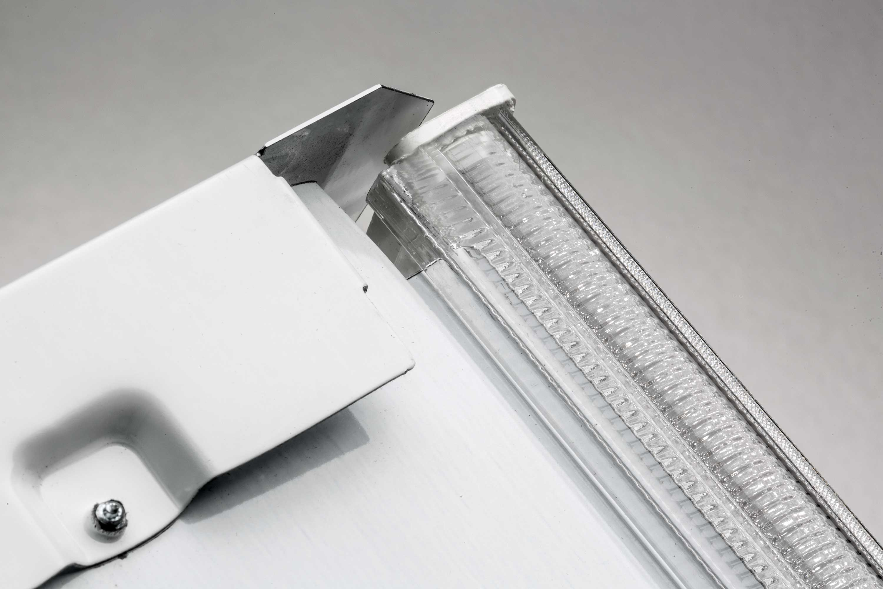 Recalled Lithonia Lighting LBL4W model ceiling light fixture top view