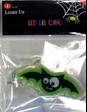 Adorno de murciélago verde y negro adherible de gel LED