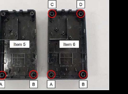 Example of broken screw receptacles from power supply cover