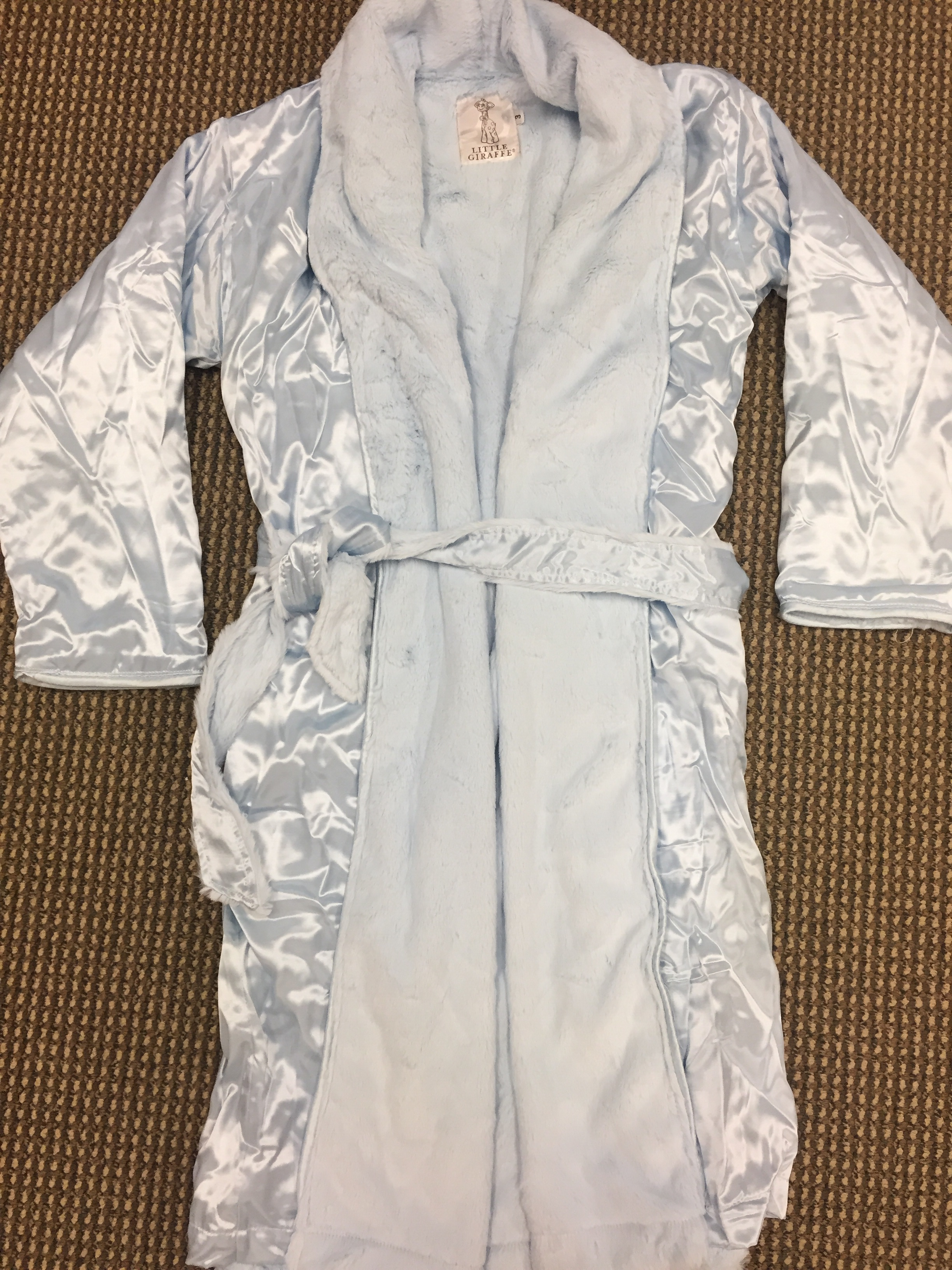 Luxe Satin children's blue robe