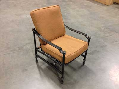 The patio sets' rocking chair can break during normal use.