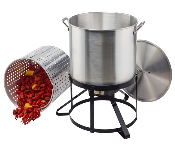 Outdoor Gourmet® 100 Qt. Crawfish Kit with circular base