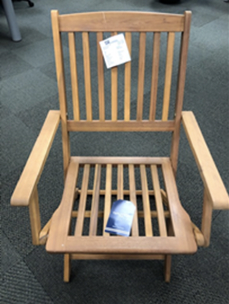 TJX Recalls Outdoor Wooden Folding Chairs Due to Fall and Injury Hazards; Sold at T.J. Maxx, Marshalls, HomeGoods and Sierra thumbnail