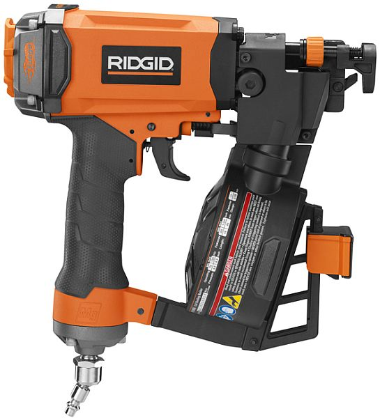 image of One World Technologies Home Depot RIDGID Coil Roofing, Clipped Head Framing Nailers