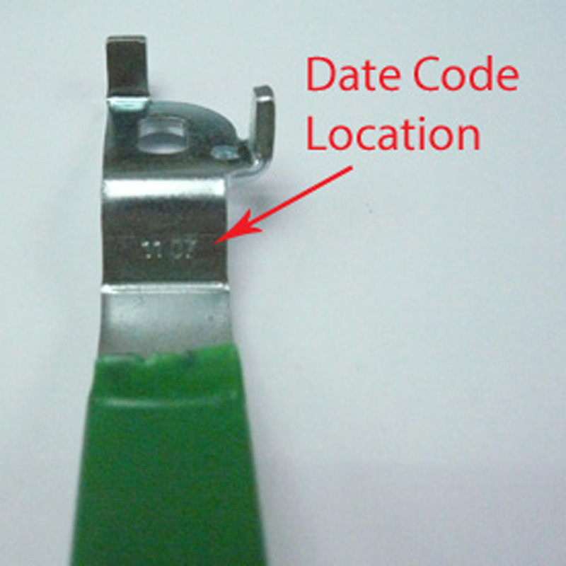 Valve Handle with Date Code