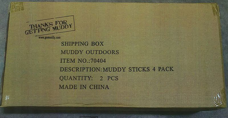 Muddy Outdoors climbing sticks packaging
