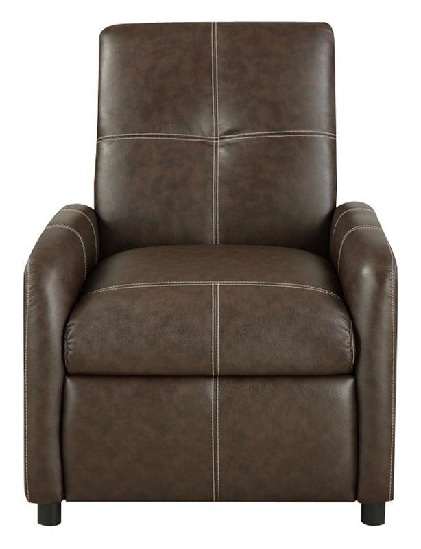 Hayward Push Back Chair – Brown (Item  #HGB-805-1)