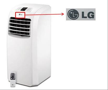 Location of LG logo