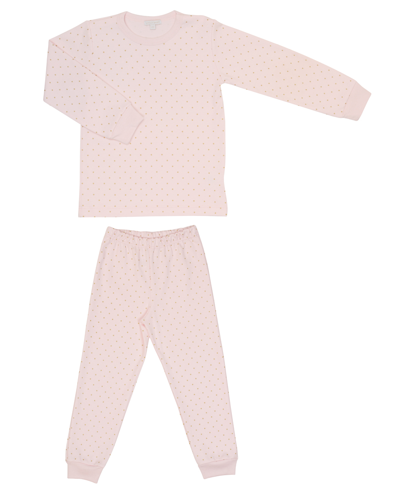 Children's two-piece pajama set in pink print