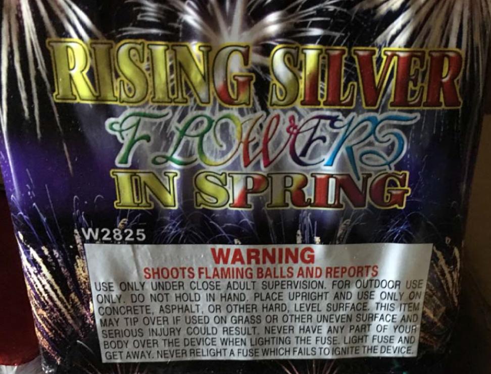 Rising Silver – Flowers in Spring 25 Shot Cake