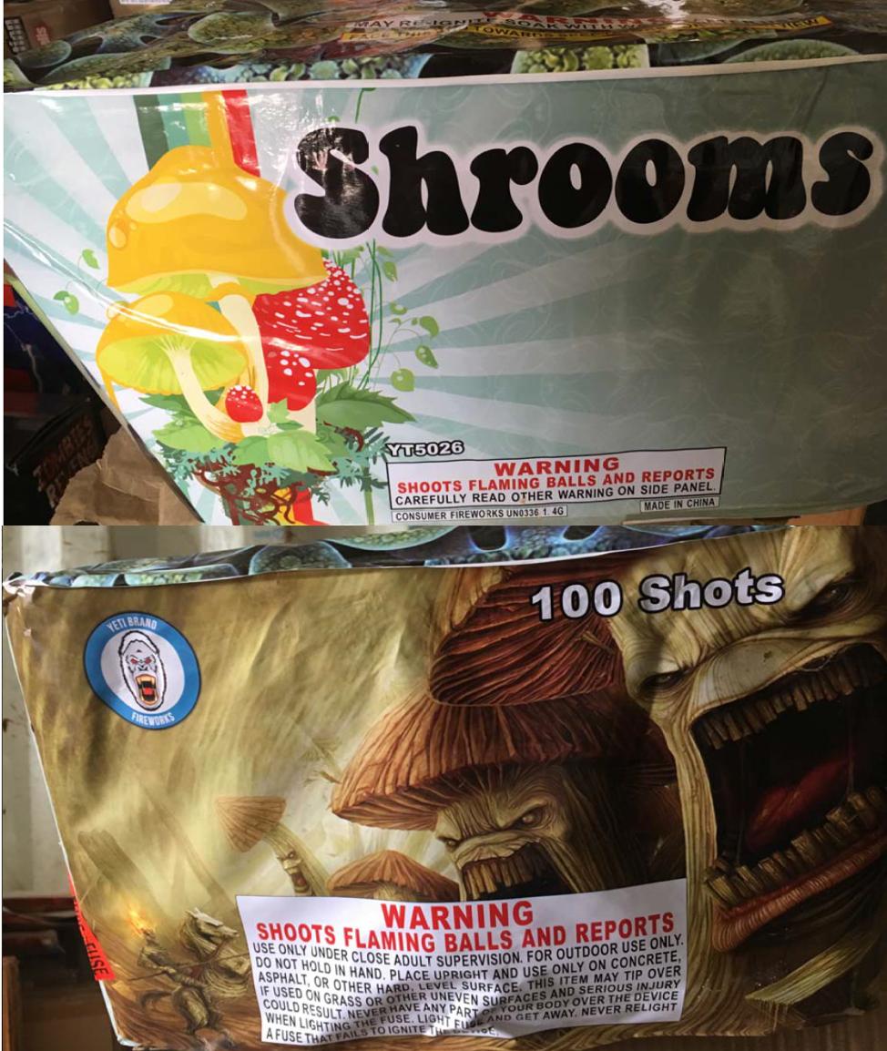 Shrooms 100 Shot Cake