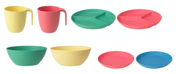Recalled HEROISK bowls, plates and mugs