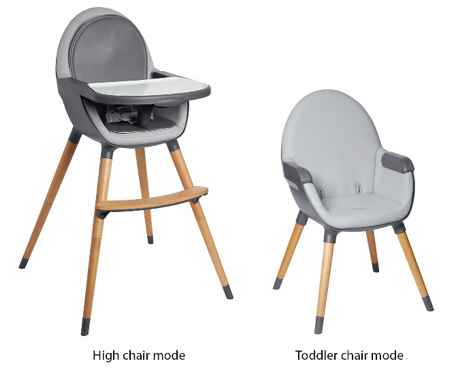 A View of the Tuo Convertible High Chair