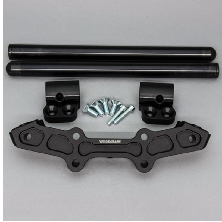 image of Woodcraft clip-on adapters for motorcycle handlebars