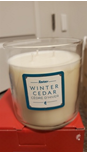 Recalled Melaleuca's Revive thee-wick winter cedar soy candle