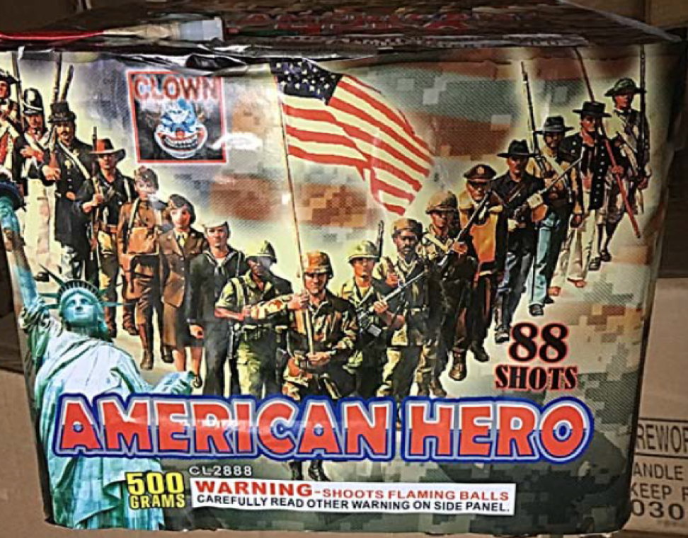 American Hero 88 Shot Cake