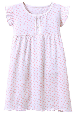 Recalled Auranso Official children's nightgown – short sleeves, white with pink heart print