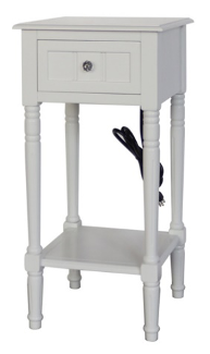 Recalled Style of J Hunt Home Accent Table with Charging Receptacle (FR10114)