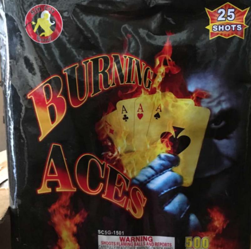 Burning Aces 25 Shot Cake