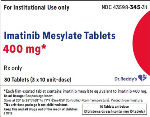 Recalled Dr. Reddy's Imatinib Mesylate Tablets 400 mg