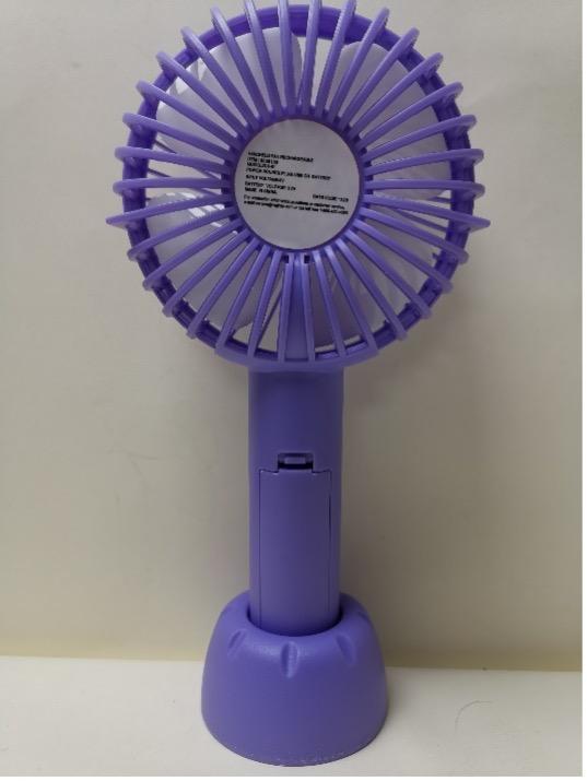 Recalled rechargeable handheld fan -purple (back)