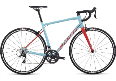 2018 Specialized Allez Elite in Gloss Light Blue/Rocket Red