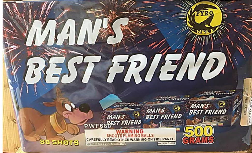 Man's Best Friend Fireworks Cake
