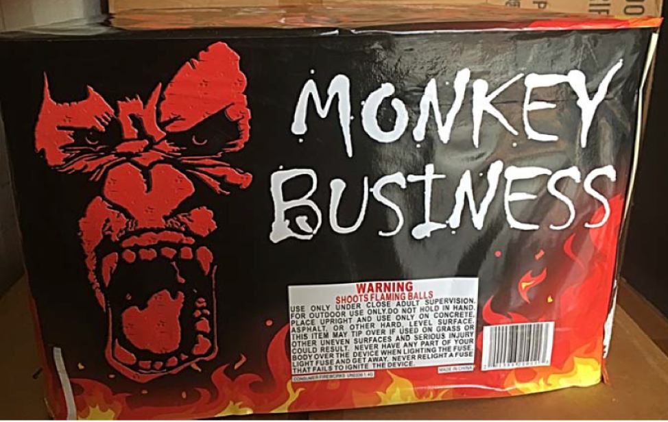 Monkey Business 100 Shot Cake