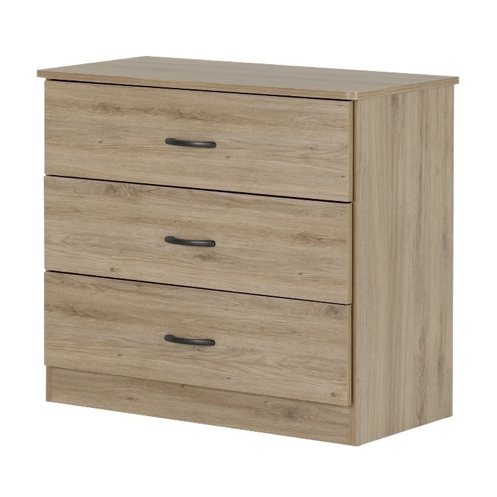 Libra style 3-drawer chest in rustic oak