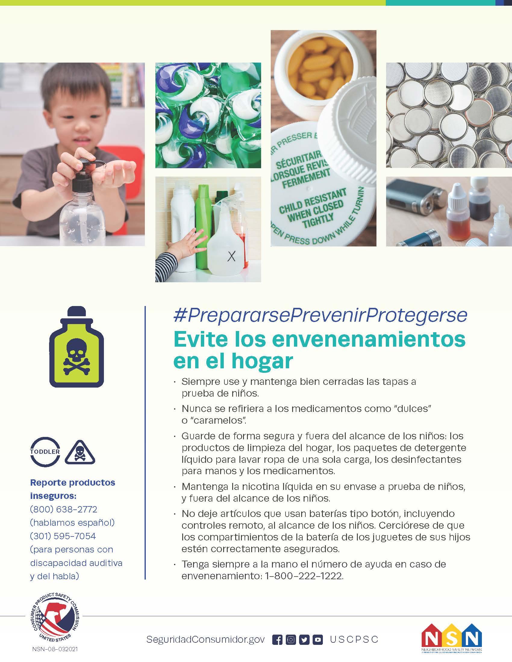 Prevenga envenenamientos: piense más allá de botiquines y gabinetes de cocina