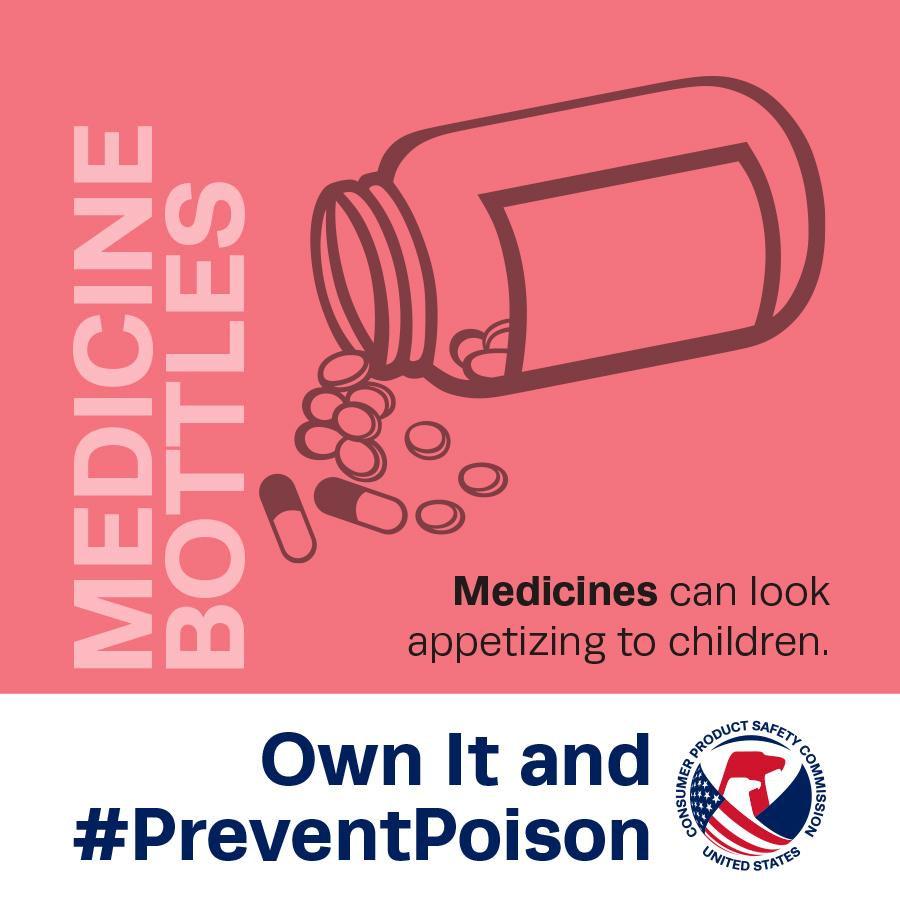 """""""Encárgate y #PrevénEnvenenamientos"""": la CPSC, Health Canada y PROFECO conmemora la Semana Nacional de Prevención de Envenenamientos del 17 al 23 de marzo de 2019"""